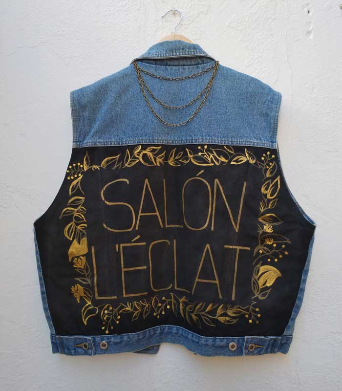 Cazadora vaquera personalizada Salon L'Eclat