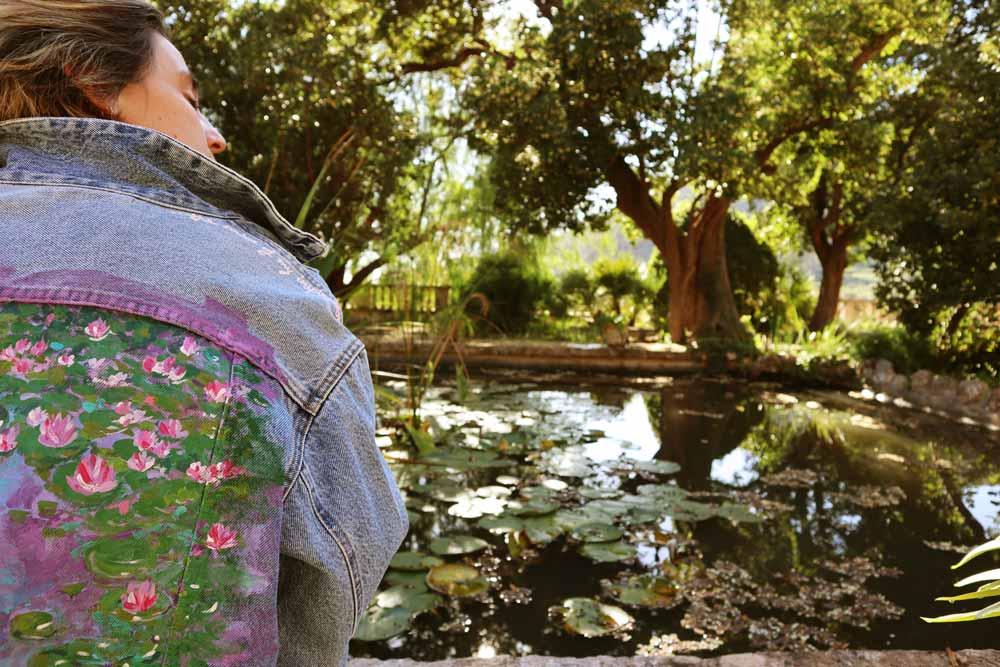Cazadora vaquera Monet nenufares Agua 1