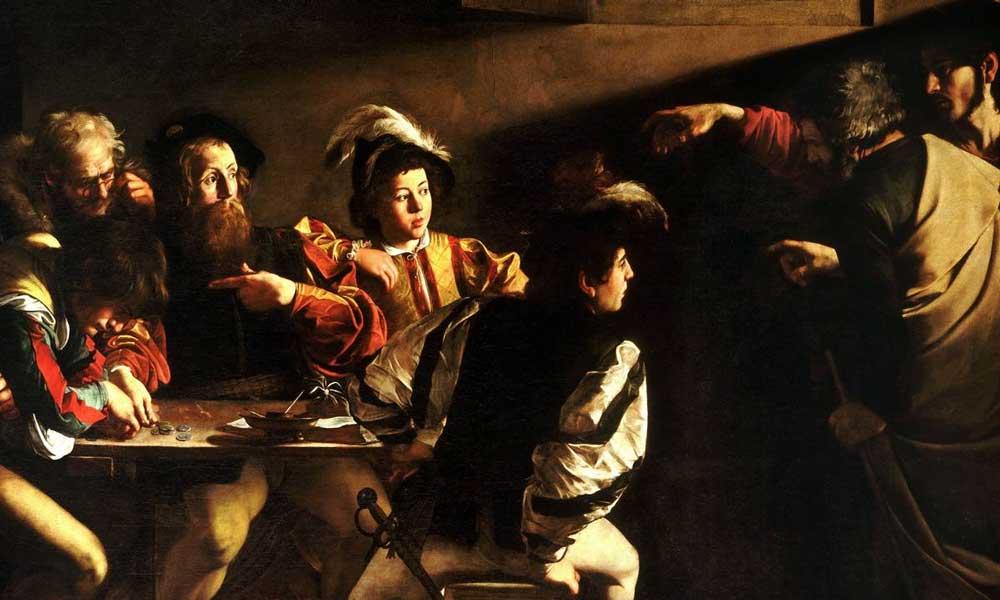 El llamado de San Mateo, Caravaggio