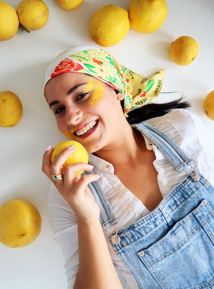 Pañuelo Seda color Limón