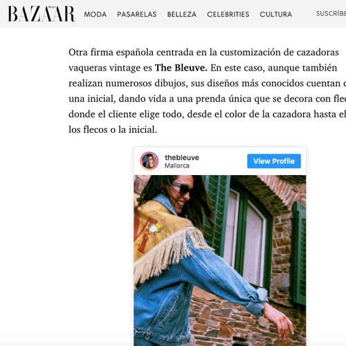The Bleuve en Harper's Bazaar